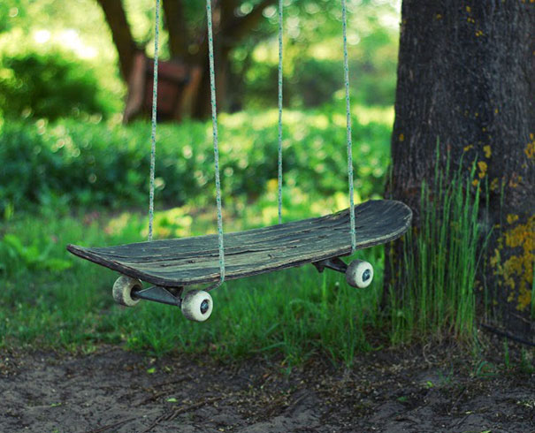 You Can Make Swings From An Old Skateboard