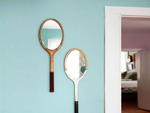 You Can Turn Your Old Badminton Rackets Into Mirrors