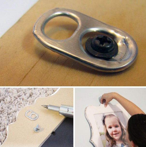 You Can Use A Pop Tab As A Photo Frame Hanger