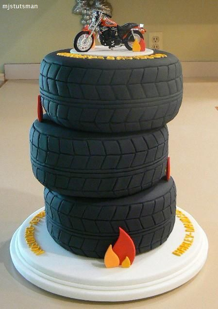 motorcycle and car tires