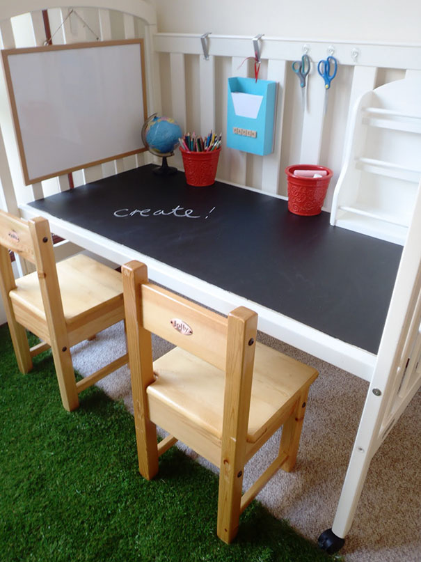 You Can Turn The Crib Into A Table When Children Grow Of It