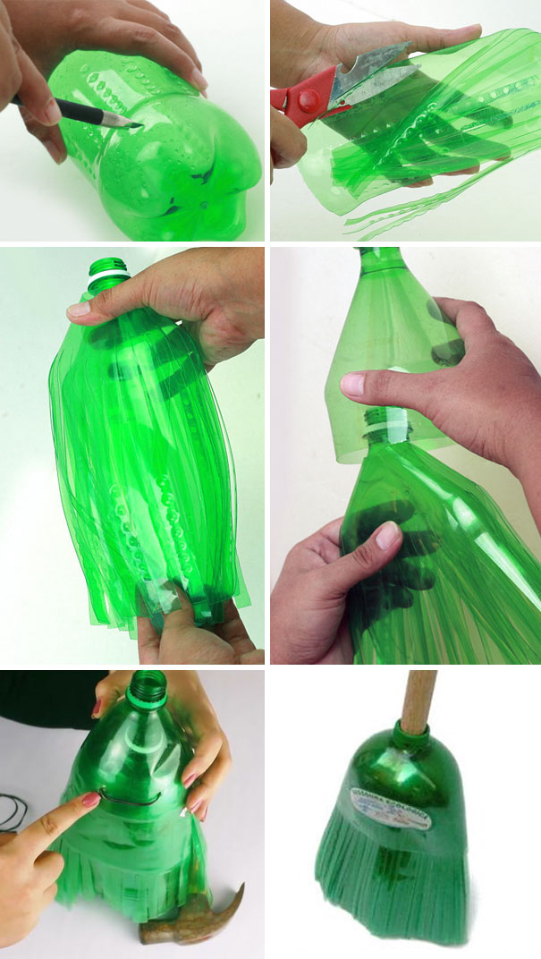 You Can Use Plastic Soda Bottles To Make A Broom