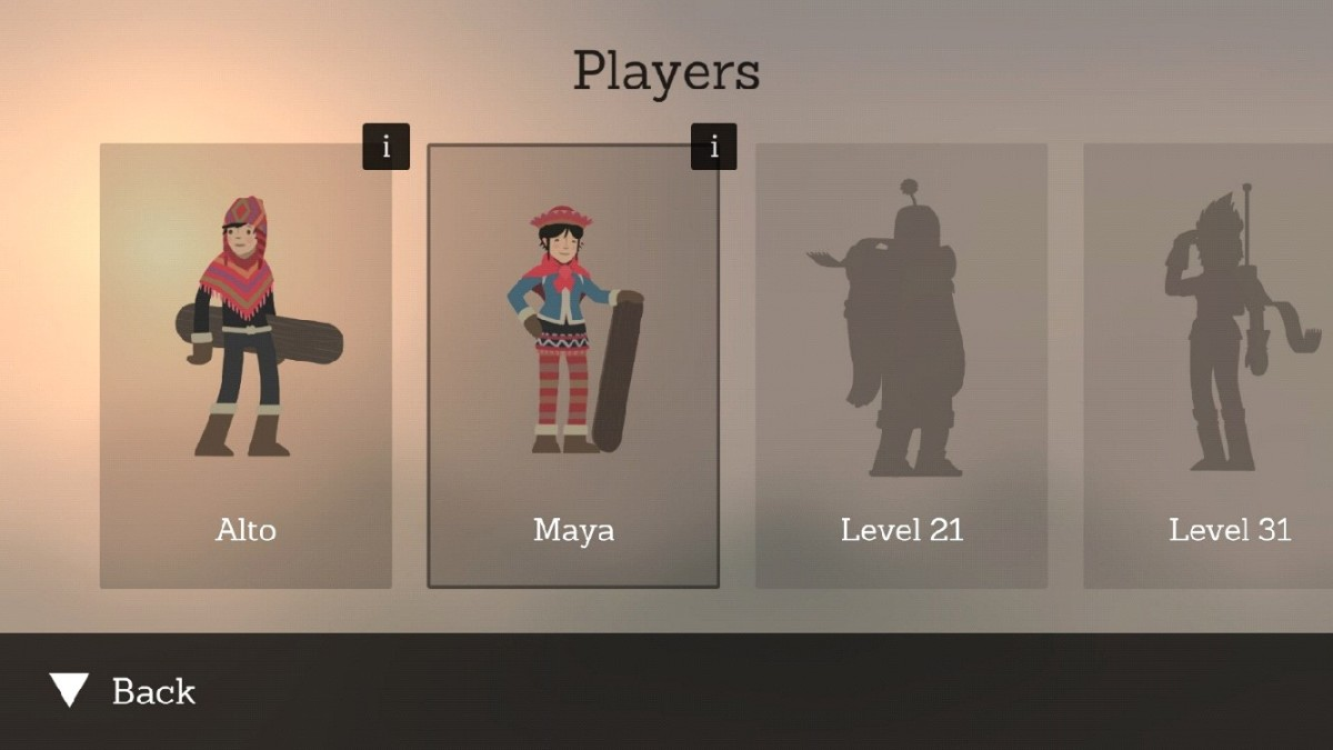 Alto's Adventure snowboarders