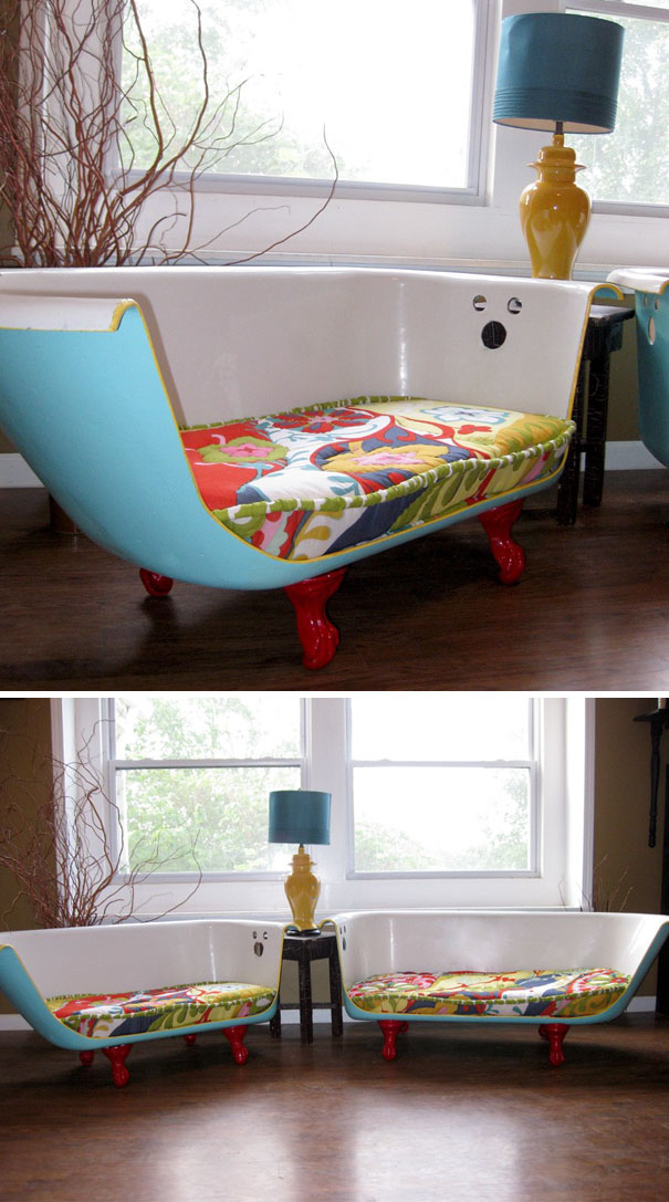 You Can Turn Your Old Bath Tub Into A Lovely Couch