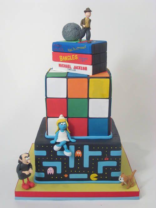 pac-man cake, rubik cube