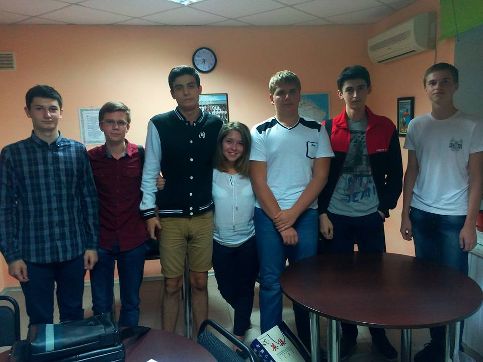 Студенты Южного Альбиона и наша милая Яна